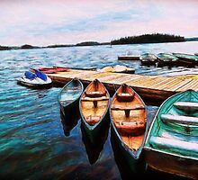 Boats Are Waiting by ClaireBull