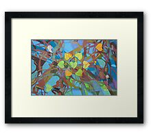 Seven Cottonwoods of the Bosque Framed Print