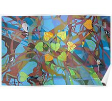 Seven Cottonwoods of the Bosque Poster