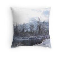 Icicle Lake  Throw Pillow
