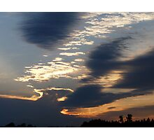 Daffy Duck Clouds Photographic Print
