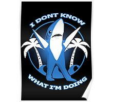 left dancing shark Poster