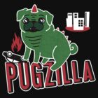 Pugzilla - black by Amy Grace