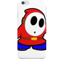shyguy mario bros iPhone Case/Skin