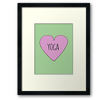 Yoga Love Framed Print