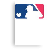 MLB Baseball Tee Metal Print