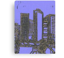 skyline (in gold) Canvas Print