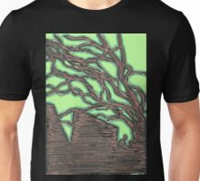 tree silhouettes (gold) Unisex T-Shirt