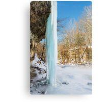 Icy Column Canvas Print