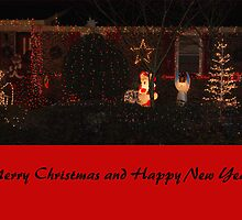 Merry Christmas Card Red by Sarah McKoy