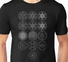 13 Circles of Sacred Geometry [White] | FRESH Unisex T-Shirt