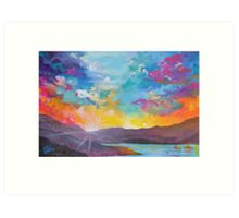 Colorful Sky Painting Art Print