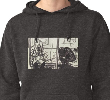 people sleeping on the train Pullover Hoodie
