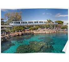 Sea World Monorail Poster
