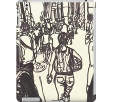 fashion avenue at morning rush hour iPad Case/Skin
