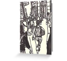 fashion avenue at morning rush hour Greeting Card