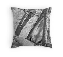 Rock and Shadow - Stone Mountain Throw Pillow