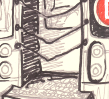 the d train Sticker