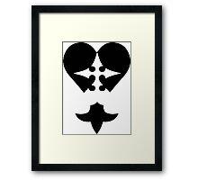 Heartless Nobody Framed Print