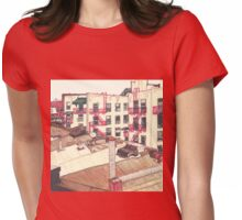 rooftop in brooklyn Womens Fitted T-Shirt