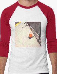 orange traffic cone Men's Baseball ¾ T-Shirt