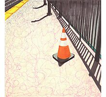 orange traffic cone Photographic Print