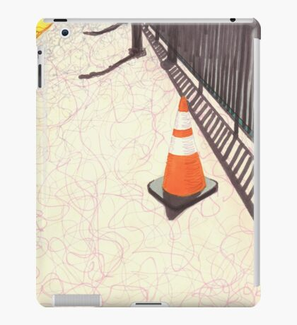 orange traffic cone iPad Case/Skin