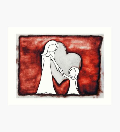 I Love You 2 Art Print