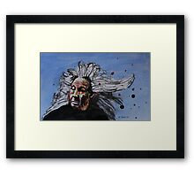 Crazy Woman Framed Print