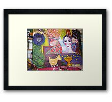 """Lady in a Cave 2""   Framed Print"