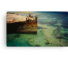 Heron Island Shipwreck, Australia Canvas Print