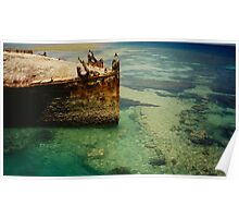 Heron Island Shipwreck, Australia Poster