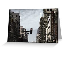 Old Theater District Greeting Card