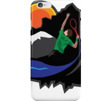 Nature, your serve. iPhone Case/Skin