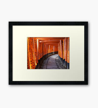 The torii gates of Fushimi Inari-taisha Framed Print
