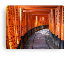 The torii gates of Fushimi Inari-taisha Canvas Print