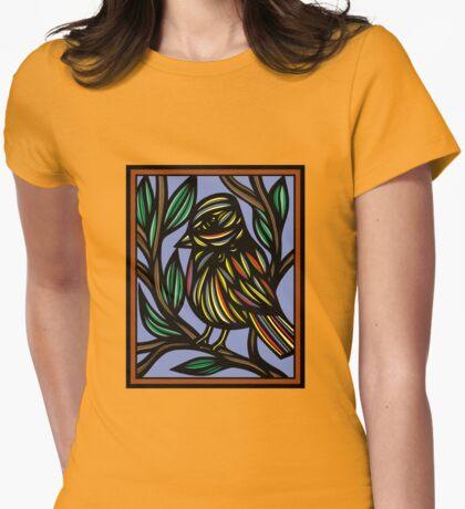 Bird Artwork, Illustration Bird Womens Fitted T-Shirt