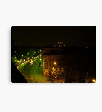 Frankfurt Night Streetscape 1 Canvas Print