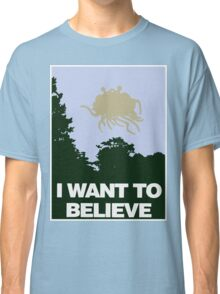 I Want to Believe in the Flying Spaghetti Monster Classic T-Shirt