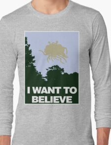 I Want to Believe in the Flying Spaghetti Monster Long Sleeve T-Shirt