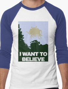 I Want to Believe in the Flying Spaghetti Monster Men's Baseball ¾ T-Shirt