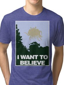I Want to Believe in the Flying Spaghetti Monster Tri-blend T-Shirt