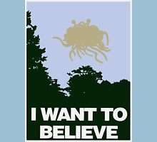 I Want to Believe in the Flying Spaghetti Monster Unisex T-Shirt