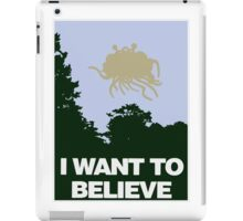 I Want to Believe in the Flying Spaghetti Monster iPad Case/Skin