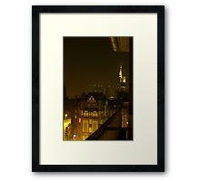 Frankfurt Night Streetscape 2 Framed Print