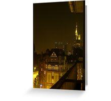 Frankfurt Night Streetscape 2 Greeting Card