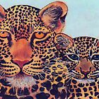 LEOPARD MOM &amp; CUB by Mariaan Maritz Krog Fine Art Portfolio