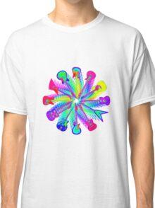 Colorful Electric Guitar Artwork Classic T-Shirt