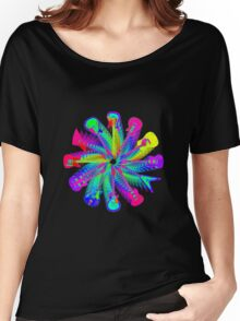 Colorful Electric Guitar Artwork Women's Relaxed Fit T-Shirt