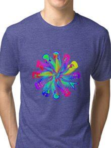 Colorful Electric Guitar Artwork Tri-blend T-Shirt
